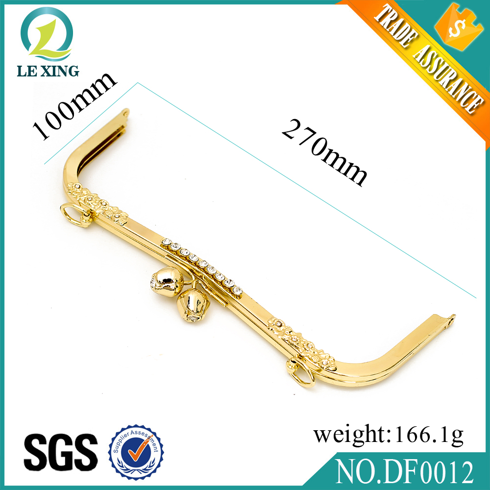 Factory price quality fashionzinc alloy bag parts metal ladies clutch purse frame