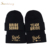 High - quality bridal letters embroidered beanie hat winter party decoration comfortable custom winter hat