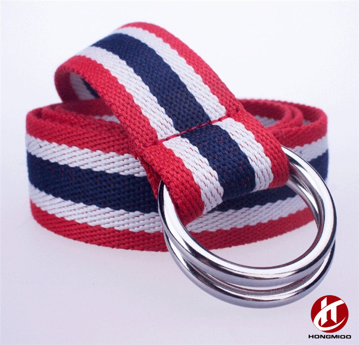 New Good Design Men Women Children Webbing Stripe Canvas Belt without Holes