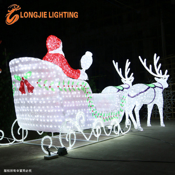 Santa claus led lumi re de no l ext rieur sculptures led for Deco lumiere exterieur noel