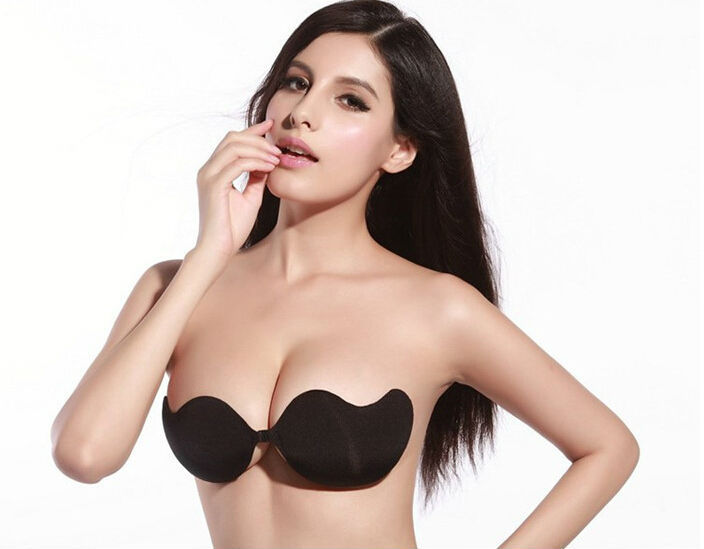 e9daedd27755c Get Quotations · 2015 Hot Sale Bras Sexy Womens Push Up Self-Adhesive  Silicone Bust Front Closure Strapless