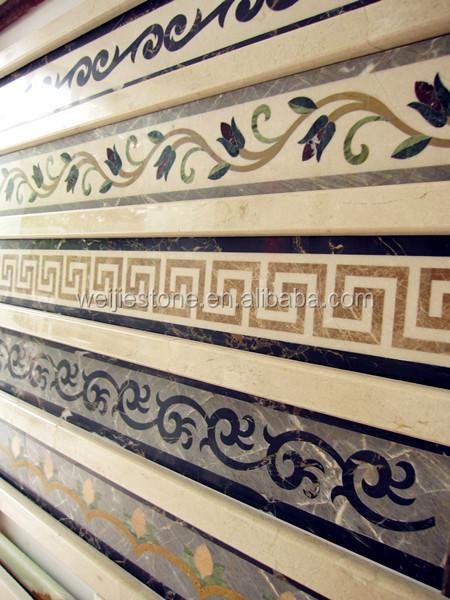 Wall And Floor Stone Waterjet Tile Border Design View Waterjet Tile
