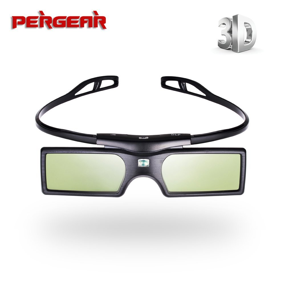 BephaMart Pergear G15 DLP Link 3D Active Shutter Glasses for Sharp LG Optoma NEC Acer Dell DLP-LINK Projector