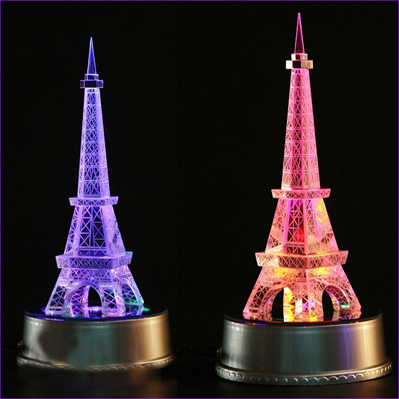 3D multi-colored art Eiffel Tower stylish handmade crystal crafts