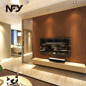 Cheap good quality customized 3d tv background wall decoration wallpaper