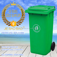 JIE BAOBAO! FACTORY MADE HDPE PLASTIC WHOLESALE 240L PLASTIC HINGED LID STACKING CONTAINER