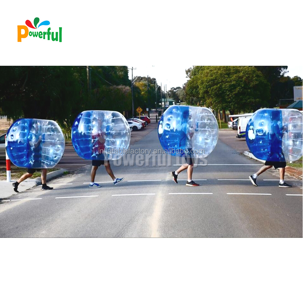 High quality inflatable PVC soccer bubble/bubble football/bumper ball