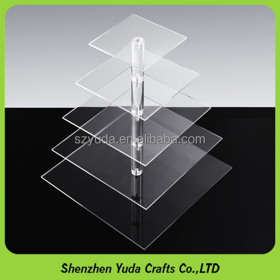 Acrylic display rack is the best tool for dessert display, wholeale wedding cupcake stand