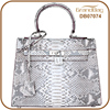 Luxury New Fashion White Color Women Hand bag Real Python Snake Skin Leather Handbags Shoulder Bag