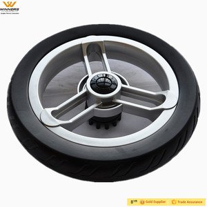 12 inch Eva foam shopping cart wheels with brake