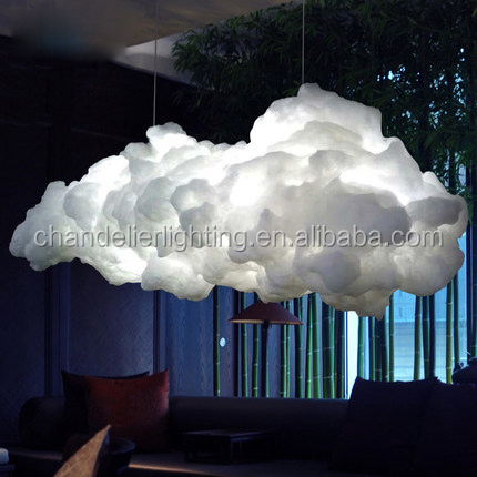 Postmodern cotton silk decorative art clouds floating fancy <strong>light</strong> with whosle price