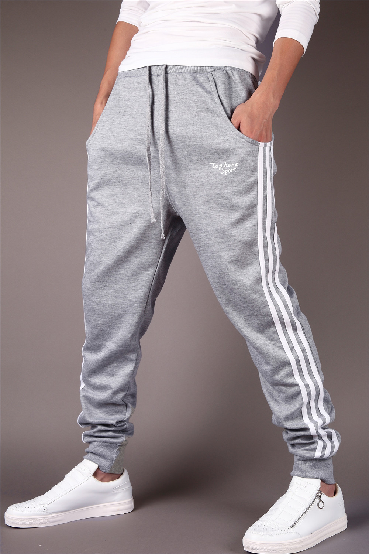 9d332154a2a3 Pantalones de chándal al por mayor-Pantalones Hombre Sarouel Hip Hop  Pantalones largos Swag Cuerda Entrepierna Pantalones de chándal flacos  Hombres ...
