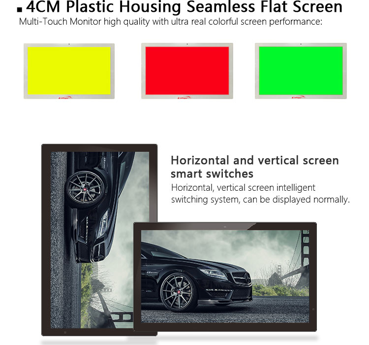 Professional HD USB 18.5 inch flat screen multi touch screen POS monitor