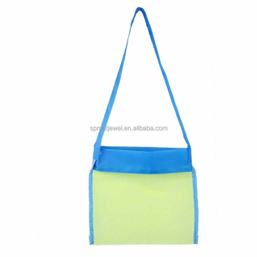 M0032 Mesh Sand Away Beach Bag Tote For Carrying Toys Towels Shell Organizer Bags