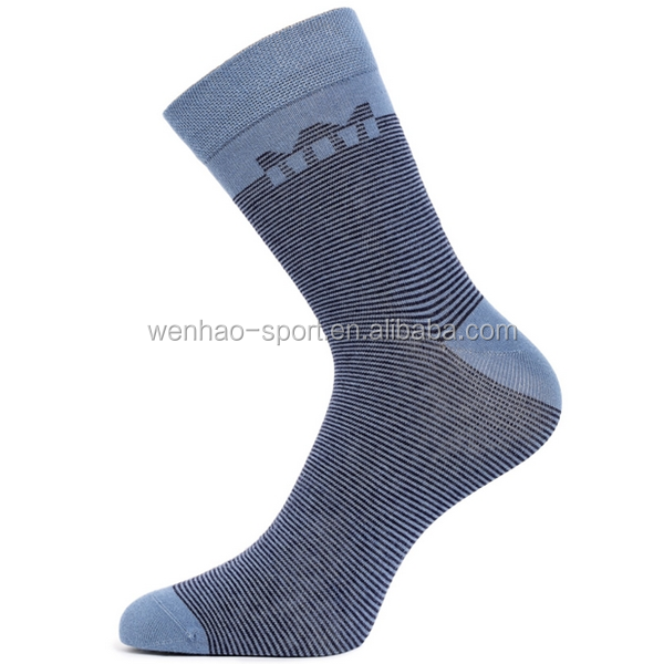 Senior leisure man socks 20141116/Fashion grey blue pinstriped combed cotton /permanent moisture wicking /double reinforcement