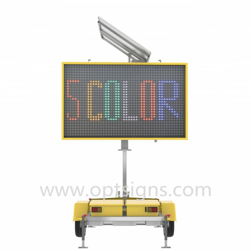 2018 New VMS-300-3 Solar Powered Led Traffic Sign, Traffic Led Display Color Variable Message Signs