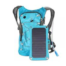 2017 new fashion Solar panel pack chargeable hydration backpack