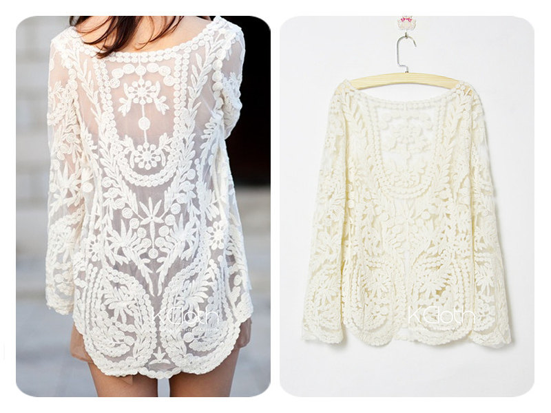 Women Lace Floral Tops Blouse - Buy Lace Tops,Floral Tops Blouse ...