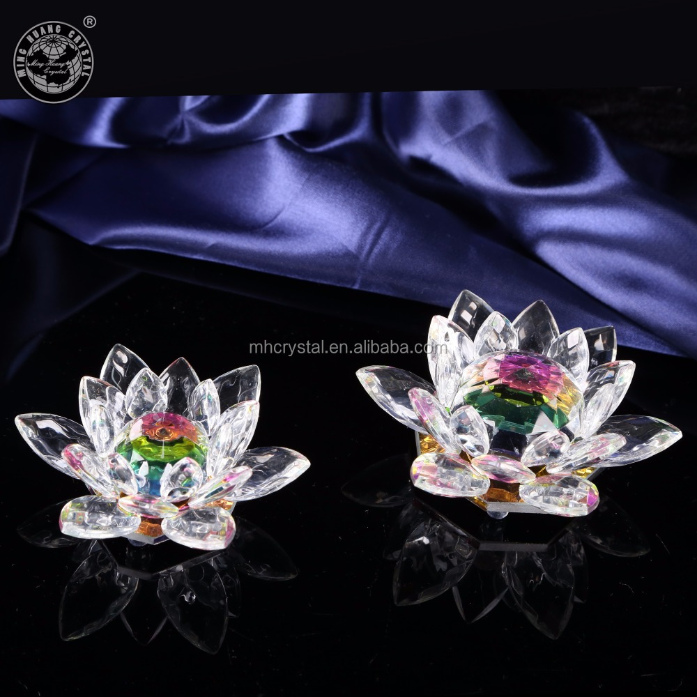 Rainbow Crystal Glas Art Lotus Bloem MH-H0125