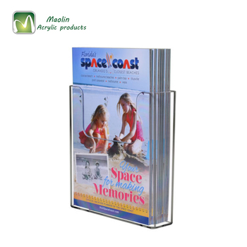 Factory Wholesale Clear Magazine Display Holder A4 Paper Acrylic Wall Mount Brochure Holder