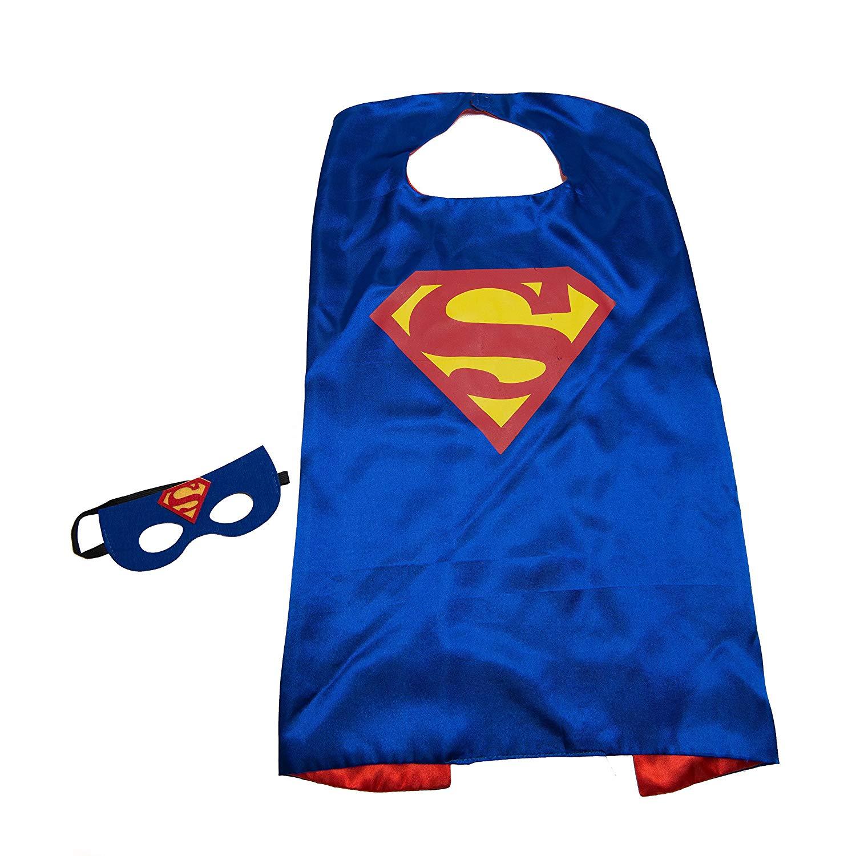 Get Quotations Jdprovisions Blue Superman Kids Superhero Cape And Mask Set