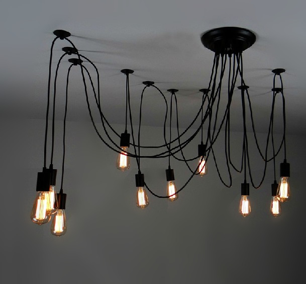 lmpara moderna lmpara de luz de edison lmpara de araa