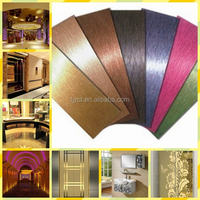 Color stainless steel sheet 304 Gold Mirror finish for decoration