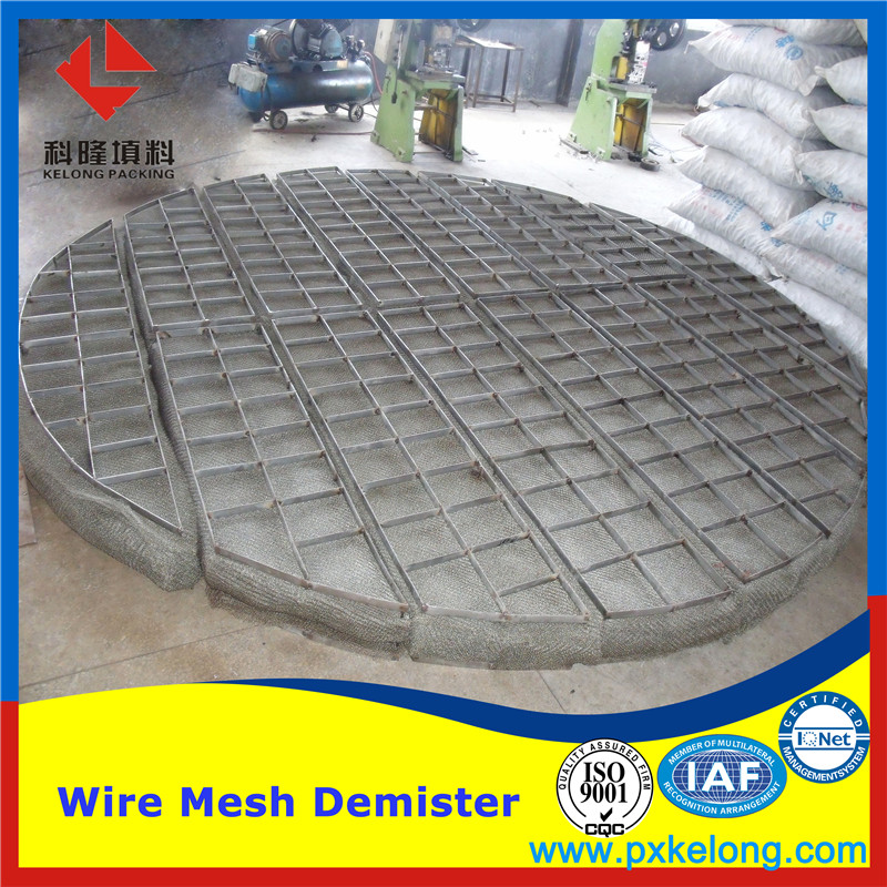 Stainless steel Wire mesh demister pad/ mist eliminator from Pingxiang