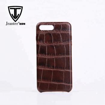 Shockproof Crocodile Pattern Genuine Cow Leather Phone Case Leather Case For Mobile Phone