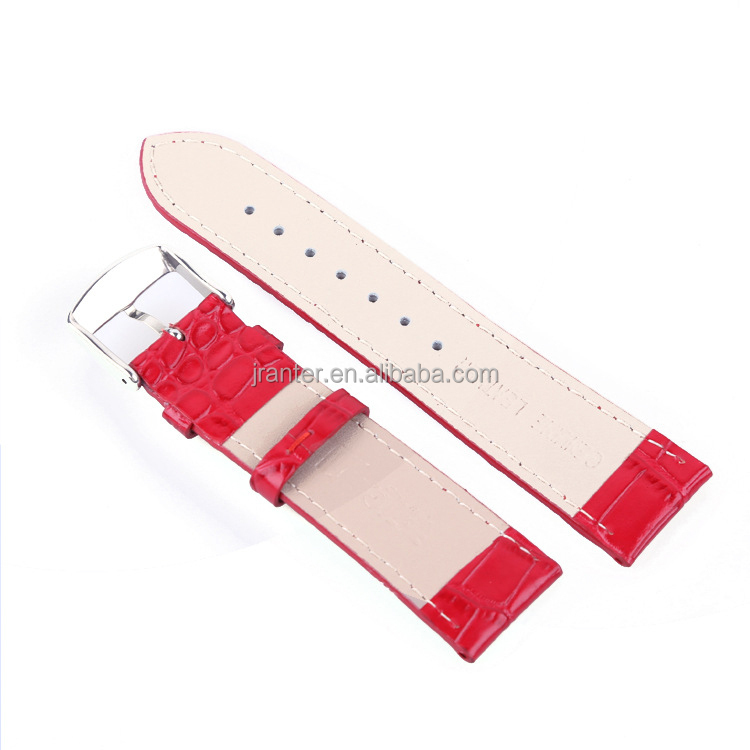 Fashion Crocodile Grain Genuine Cow Leather Watchstrap