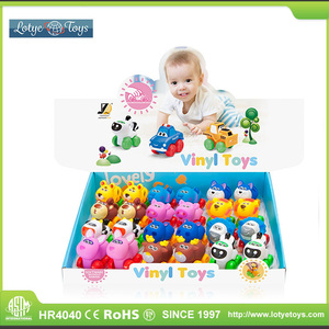 Super cute animal cartoon vinly toy for baby