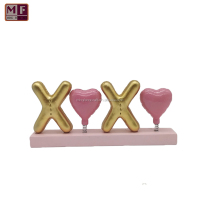 Resin XOXO Alphabet Tabletop Decor Valentine's Day Holiday Ornament