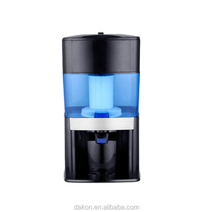 Black food-grade ABS countertop water filter system/7 stage alkaline water filter/mineral water purifier