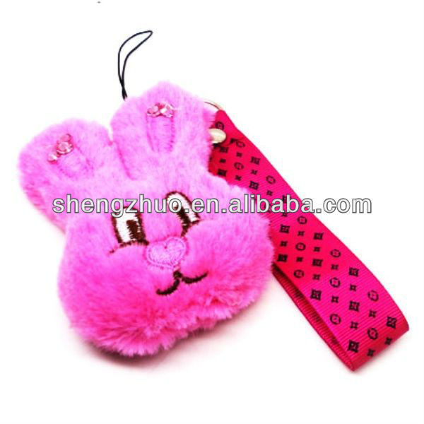 Lovely Design Plush Rabbit Cell Phone Charm