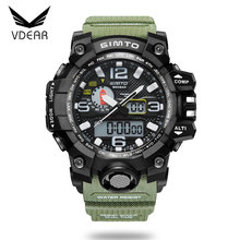 Two time settings 30 meters waterproof analog digital outdoor wrist watch digital wrist watch