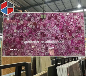 Luxury polished pink agate slabs