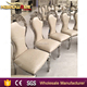 dubai royal types of high back silver steel wedding chairs