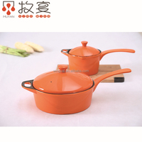 Chaozhou MUYAN heat-resistant ceramic frying pan and milk pot with cover