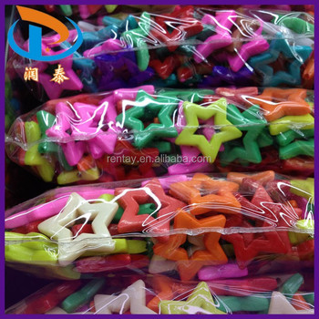 Hot Sale Colorful Loose Acrylic Pony Kids Star Plastic Beads For Children Necklace & Bracelets