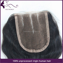 No shedding tangle free 4x4 inch Brazilian virgin human hair front lace closure 3 part body wave 4*4 5*5 lace closure