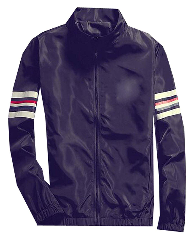 eaa58c567d240 ... Long Coat Jacket Windbreaker Winter Slim Outwear. 23.99. null. Get  Quotations · Generic Mens Fashion Korean Slim Fit Stand Collar Bomber Jacket