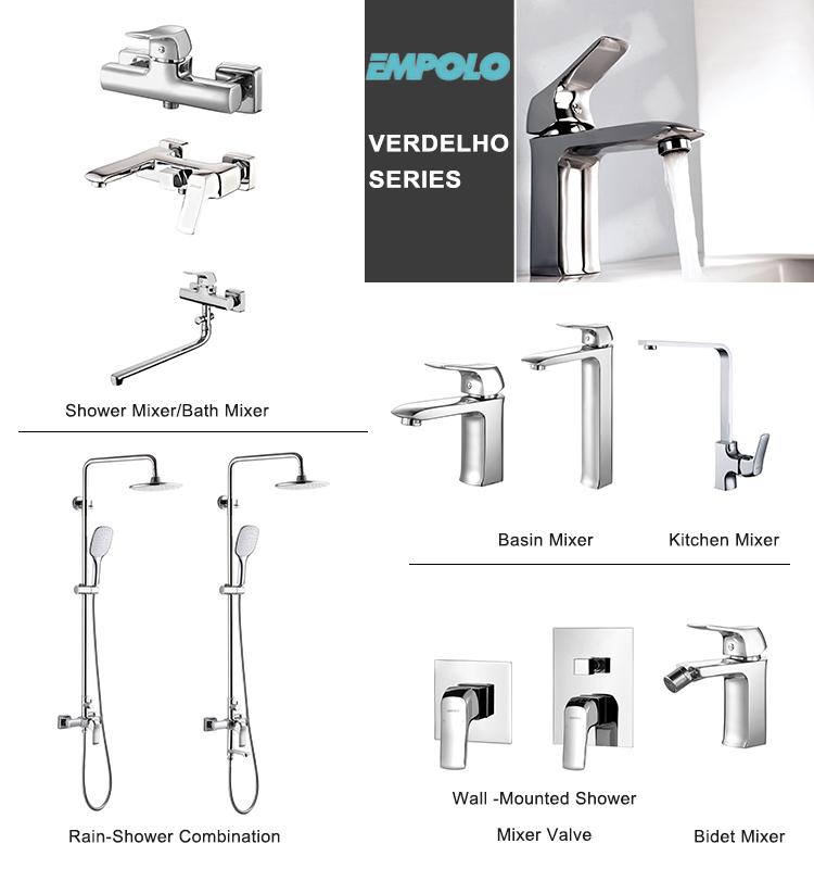 High quality factory sale brass wall mounted mixer hidden basin faucet, water mixer tap