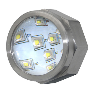"1/2"" NPT White 12V 27W marine Boats sea water Blanco Barco bajo el agua Drain Plug luz LED Light led underwater boat lights"