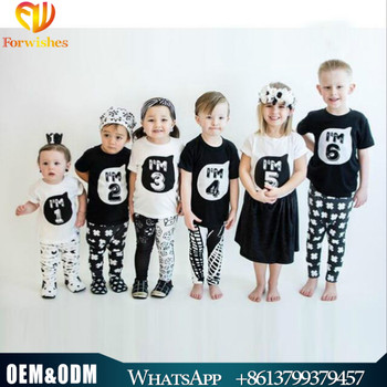 2017 wholesale children outfit summer fashion 100 % cotton letter printed short sleeve baby t-shirts1-6 years old kids t shirts