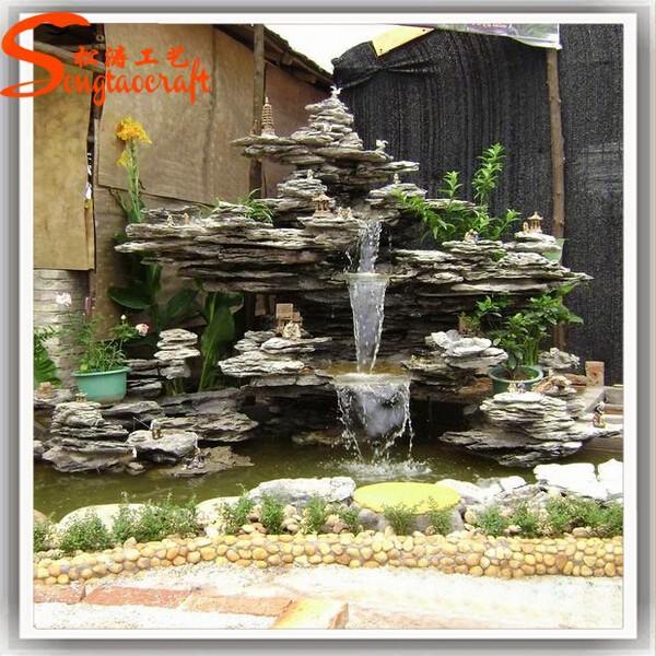 Cascada Artificial En Pared Fuentes De Agua Para Jardin Awesome - Fuentes-de-piedra-de-pared