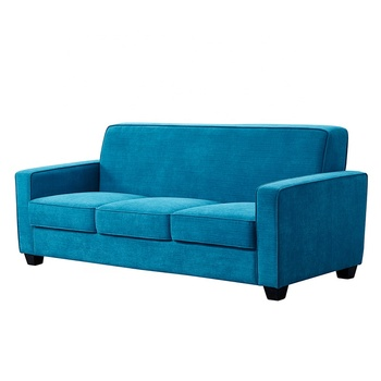 Minimalism Nordic Decoration Living Room Furniture Blue  Couch Velvet Upholstery Fabric Sofa