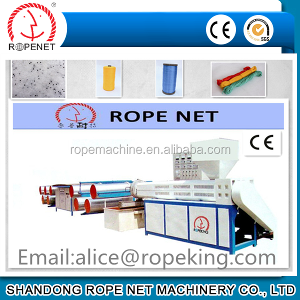 PP Split Film Twine Extruder Machinery To Make Baler Twine