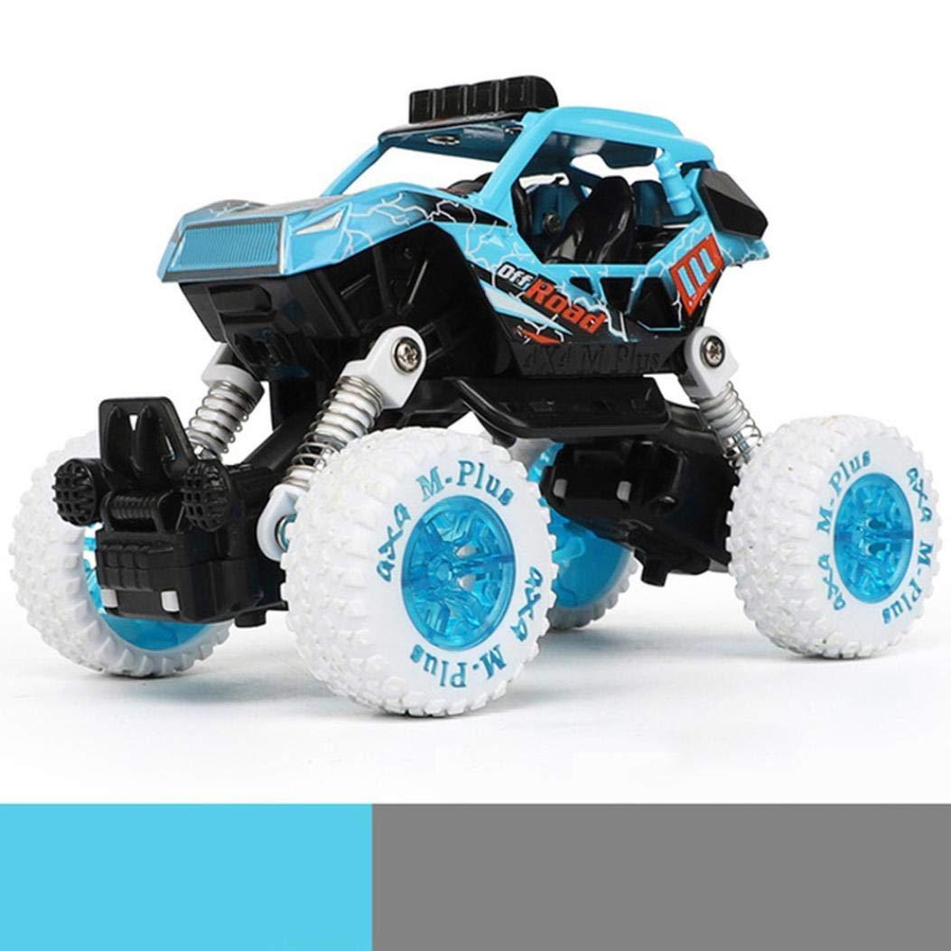 Ikevan 1xChildren Inertial Off-Road Vehicle Car Model Pull Back Toys Car Boys Gift (C)