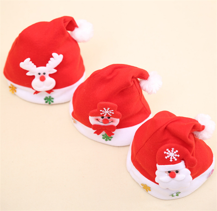 Applique cartoon christmas item christmas hat for children