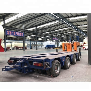16 Axle Tyres Module Transport Lowbed Semi Truck Trailer Type For Botswana